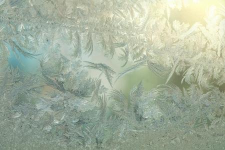 scraping: Frozen window pattern Stock Photo