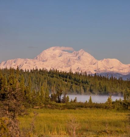 snow capped mountains: McKinley peak Stock Photo