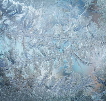 Frozen window pattern photo