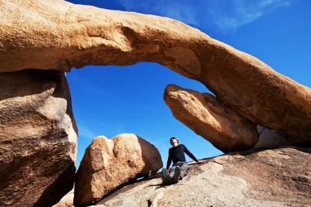 np: Arch in Joshua Tree NP,USA