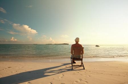 relaxing beach scene Stock Photo - 17054595