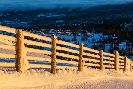 fence in Norway mountains Stock Photo - 17342133