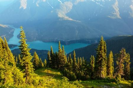 wilderness area: Diablo Lake,Washington Stock Photo