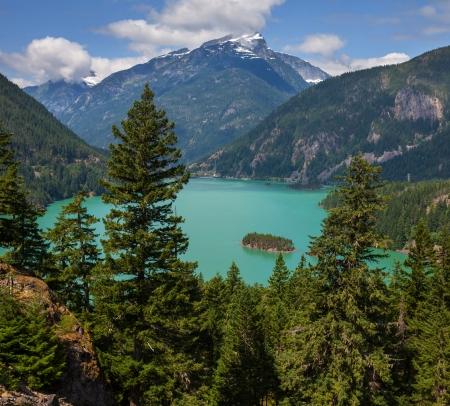 Diablo Lake,Washington Stock Photo - 17482188