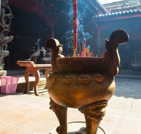 Buddhist prayer sticks in chinese temple Stock Photo - 17482177