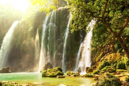 waterfalls waterfall: Ban Gioc - Detian waterfall in  Vietnam