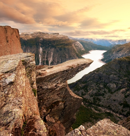Trolltunga in Norway photo