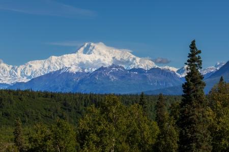 alpine tundra: McKinley peak Stock Photo