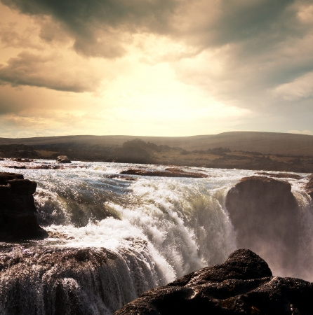 icelandic dramatic landscapes photo