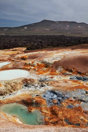 the stinking: Fumarole field in Namafjall, Iceland