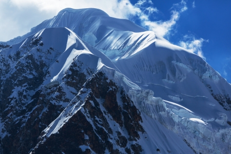 High mountains in Bolivia photo