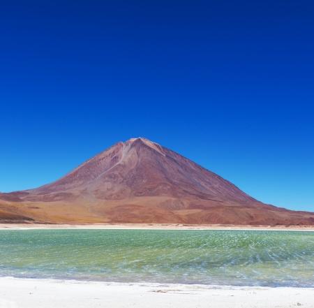 The Salvador Dali desert. Bolivia. Stock Photo