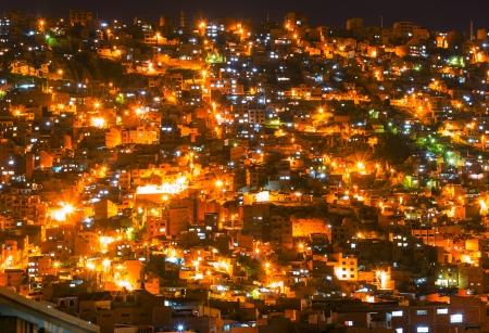 bolivia: La Paz at dark Stock Photo