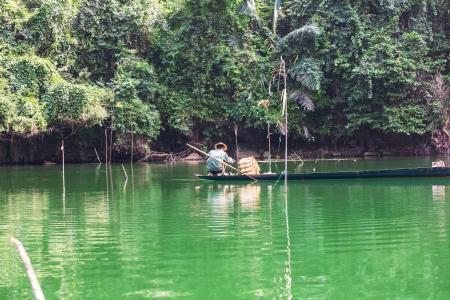 Fisherman in Vietnam photo