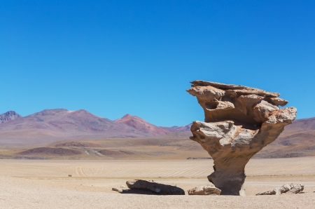 high desert: Arbol de piedra - Stone rock formation in Bolivia