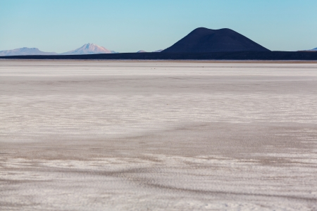 salar: Desert in Salar de uyuni, Bolivia Stock Photo