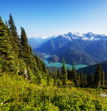 Diablo Lake,Washington Stock Photo - 20218160