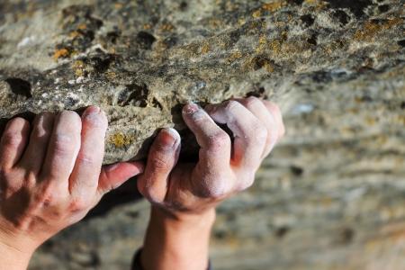 handhold: Rock climber