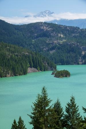 Diablo Lake,Washington Stock Photo