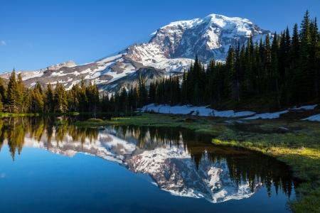 mt: Mt Rainier Stock Photo