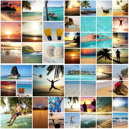 collage: Beach background