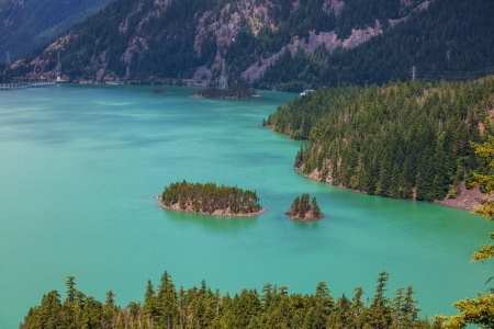 lake diablo: Diablo Lake,Washington Stock Photo