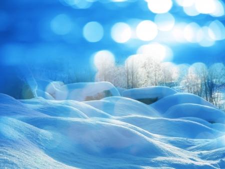 winter scene: Winter scene Stock Photo