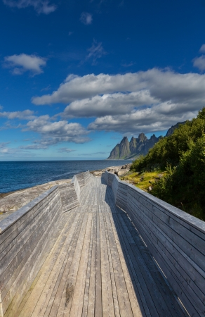 cloud formation: Senja island,Norway Stock Photo