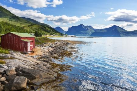 scandinavian landscape: Senja island,Norway Stock Photo