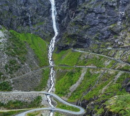 tortuous: Trollstigen, Troll Stock Photo