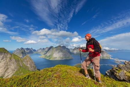 hike in Lofoten,Norway photo