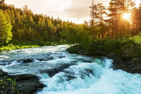 ノルウェーの川