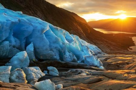 frigid: Svartisen Glacier in Norway