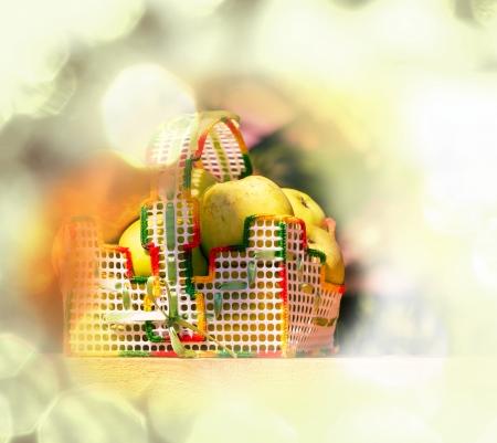 Apples in basket photo