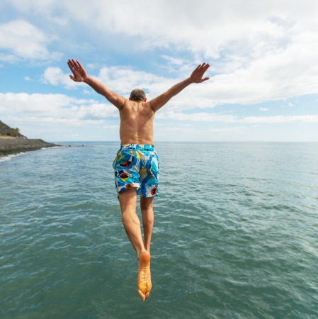 Jumping boy photo