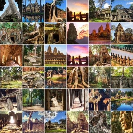 Angkor ruins collage photo