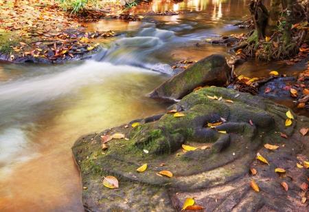 waterfall Kbal Spean Stock Photo