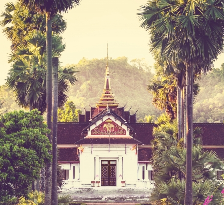 Buddhist temple in Laos photo