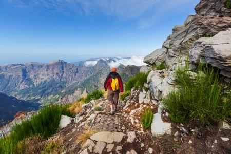 Pico Ruivo and Pico do Areeiro mountain peaks in  Madeira, Portugal Stok Fotoğraf