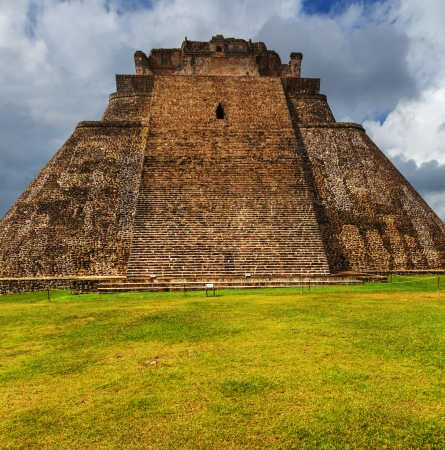 Mayan pyramid in Uxmal, Yucatan, Mexico photo