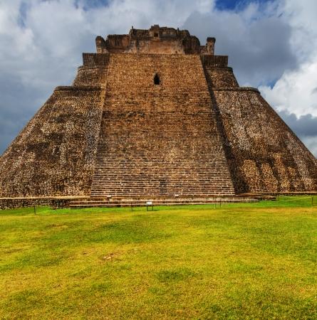 tulum: Mayan pyramid in Uxmal, Yucatan, Mexico