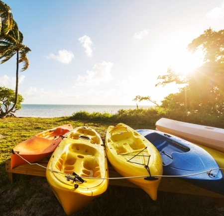 canoe on beach photo
