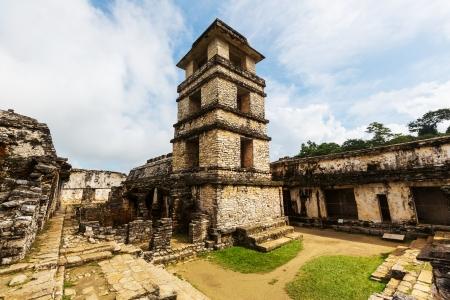 멕시코 팔 렝케 피라미드 스톡 콘텐츠 - 25443806