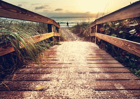 promenade op het strand
