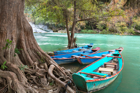 roo: Fishing boats in Mexico Stock Photo