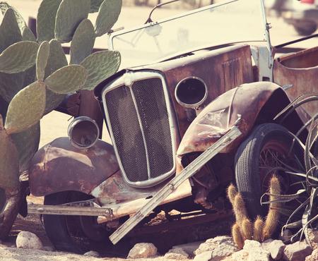 rusty car: old vintage car