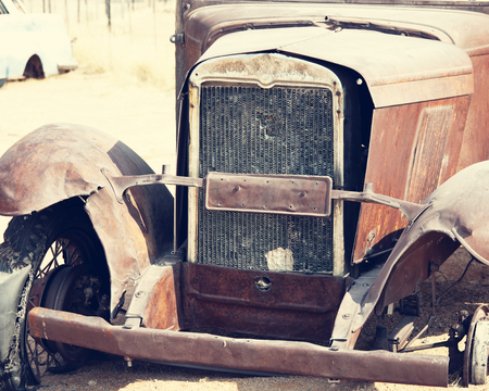 abandoned car: old vintage car
