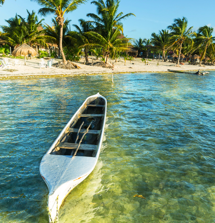 riviera maya: Fishing boats in Mexico Stock Photo
