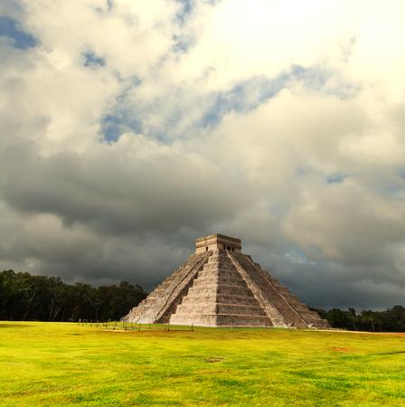 Kukulkan Pyramid in Chichen Itza Site, Mexico photo