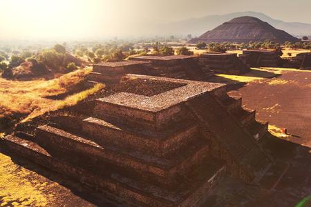 pyramid peak: Pyramid of the Sun  Teotihuacan  Mexico